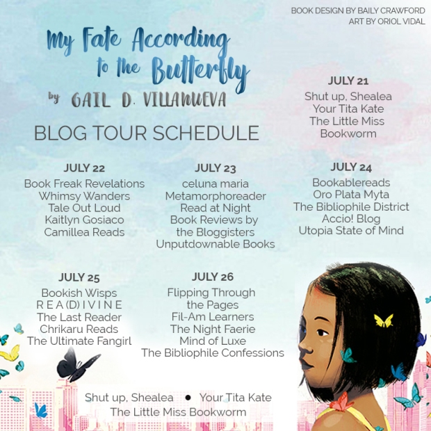 My Fate According to the Butterfly by Gail D. Villanueva Blog Tour Schedule